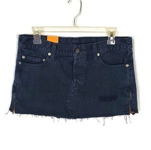 Levi's 501 NEW Black Denim Jean Skirt (J22)
